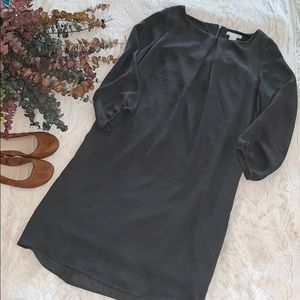 Dark Gray 3/4 Sleeve H&M Shift Dress